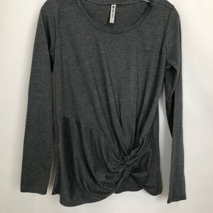 Fabletics Gray Top Knot Detail at Waist NWOT Sz S
